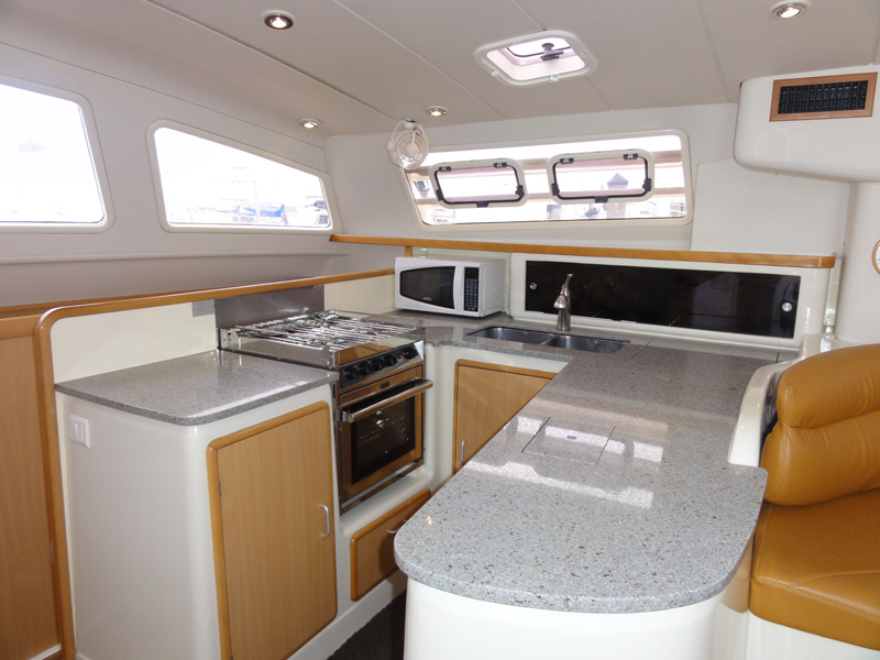 Preowned Sail Catamarans for Sale 2004 Leopard 47 Galley